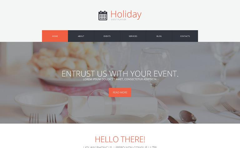 Tema de WordPress #50491 para Sitio de Organización de eventos