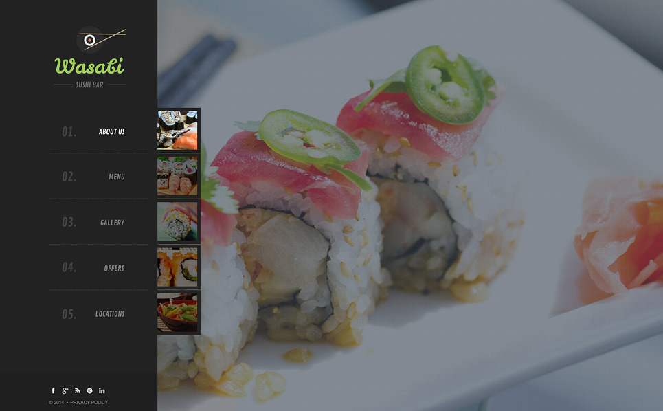 Template Web Bootstrap para Sites de Bar de Sushi №50445 New Screenshots BIG