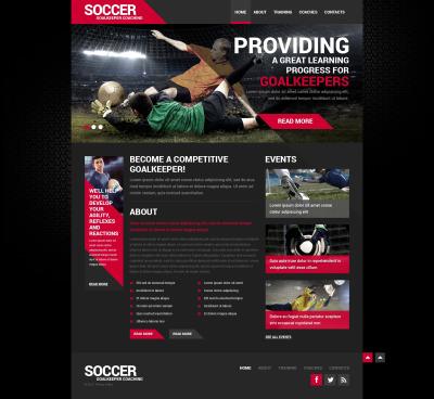 Flexível template Web №50452 para Sites de Futebol