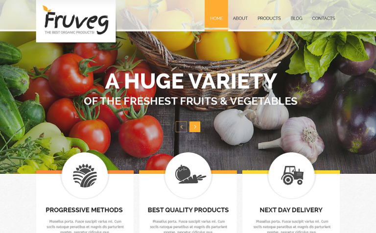 The Best Organic Products Joomla Template New Screenshots