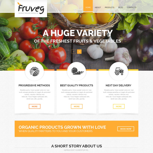 Fruveg - The best organic products Joomla! Template based on Bootstrap