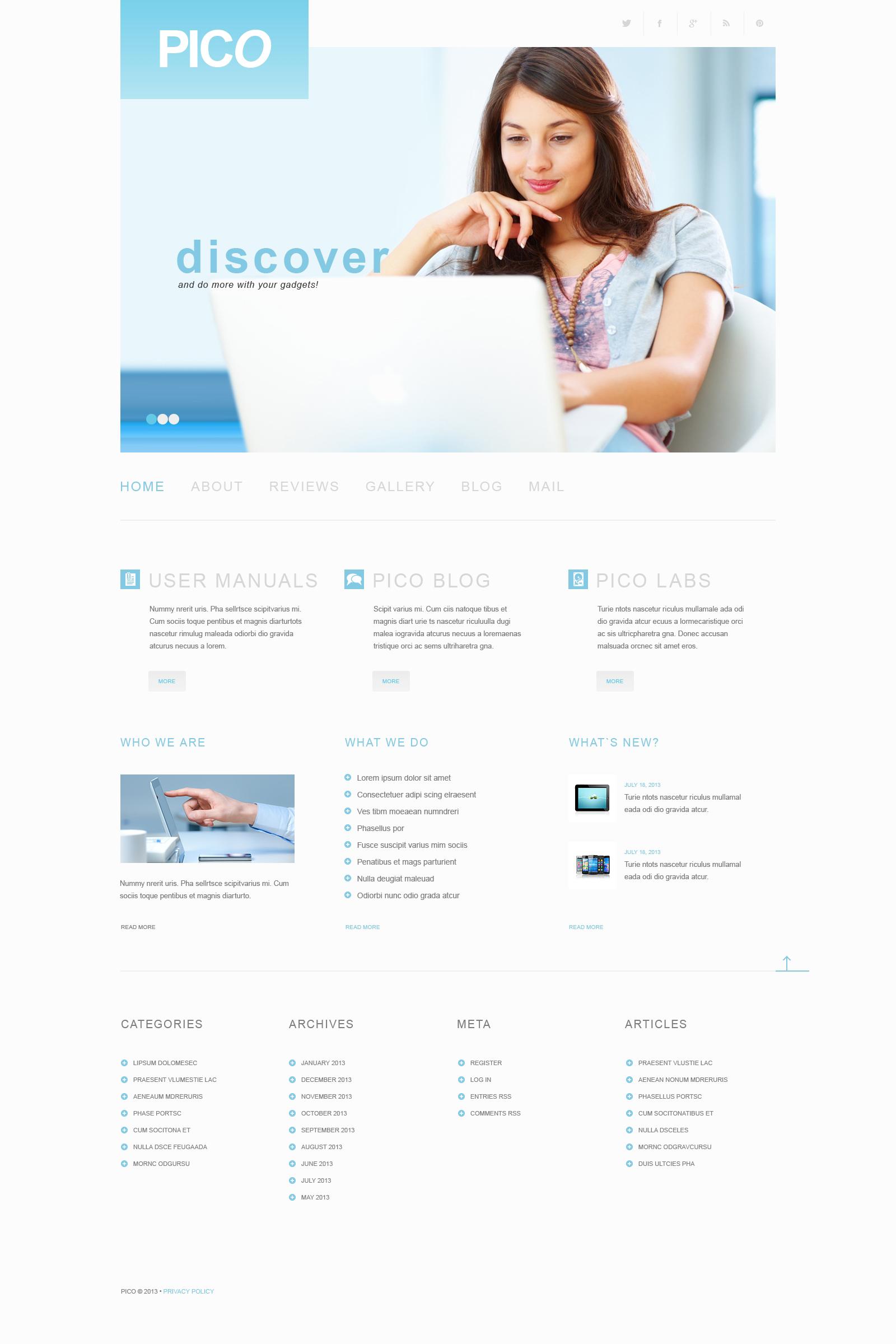 Thème WordPress adaptatif pour site de logiciels #50499 - screenshot
