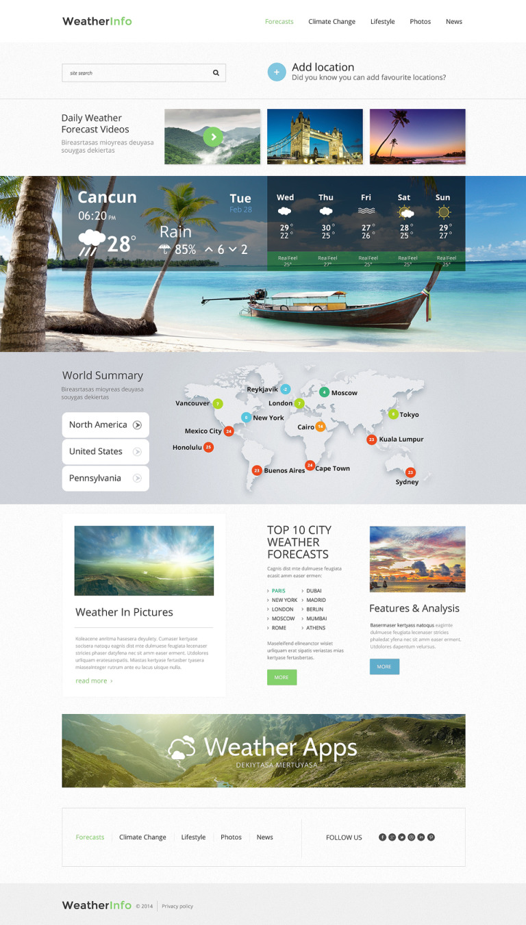 Weather Responsive Website Template New Screenshots BIG