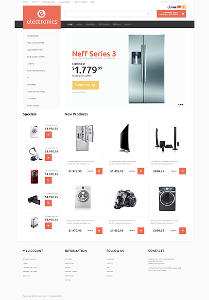 osCommerce Template 50512 Main Page Screenshot