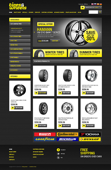 osCommerce Template 50513 Main Page Screenshot
