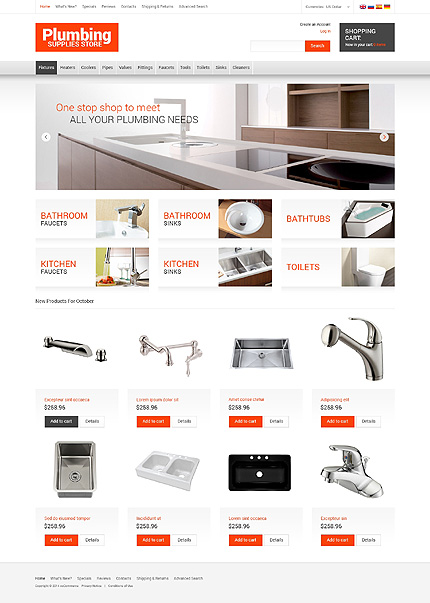 osCommerce Template 50514 Main Page Screenshot