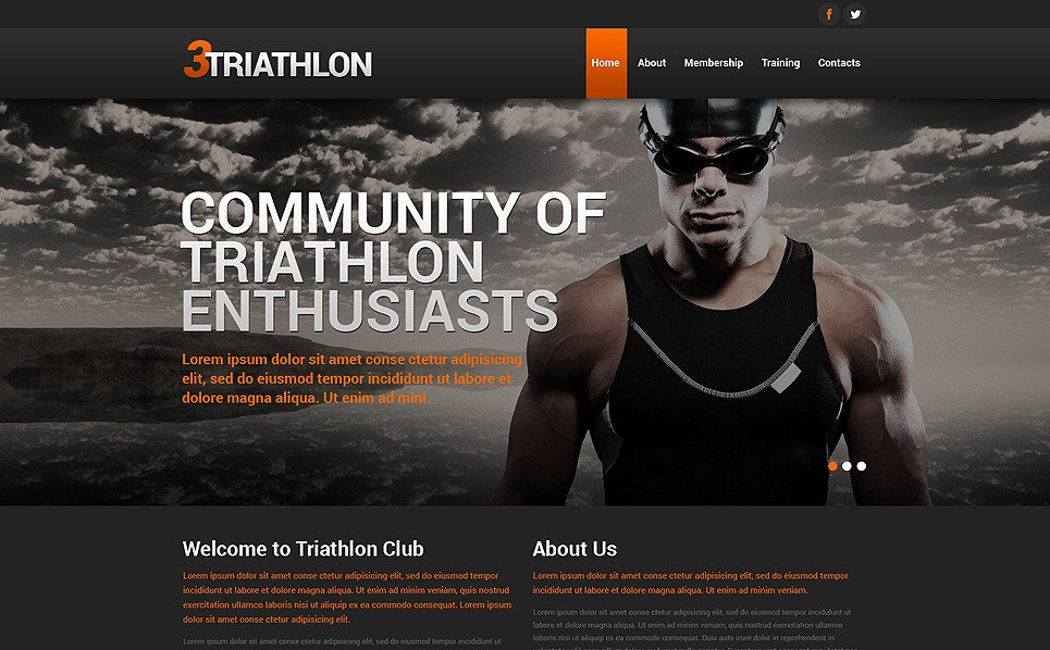 Responsywny szablon strony www #50516 na temat: sport New Screenshots BIG