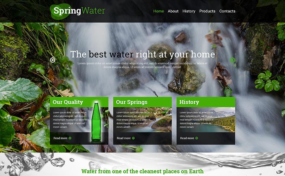 Template Web Flexível para Sites de Água №50518 New Screenshots BIG