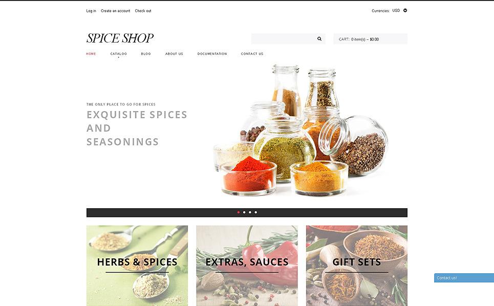 Template Shopify Responsive #50524 per Un Sito di Negozio delle Spezie New Screenshots BIG