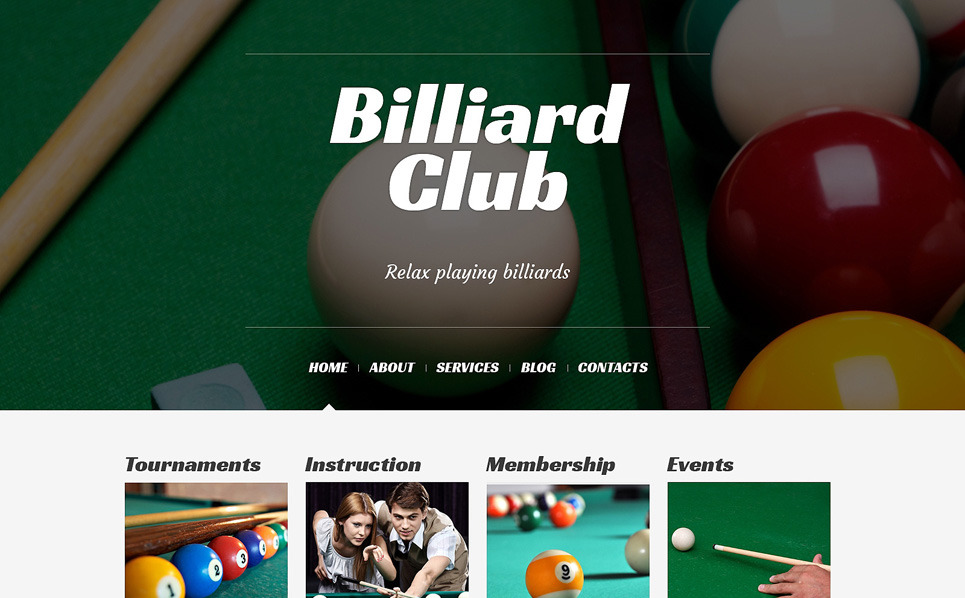Thème WordPress adaptatif  pour site de billiard New Screenshots BIG