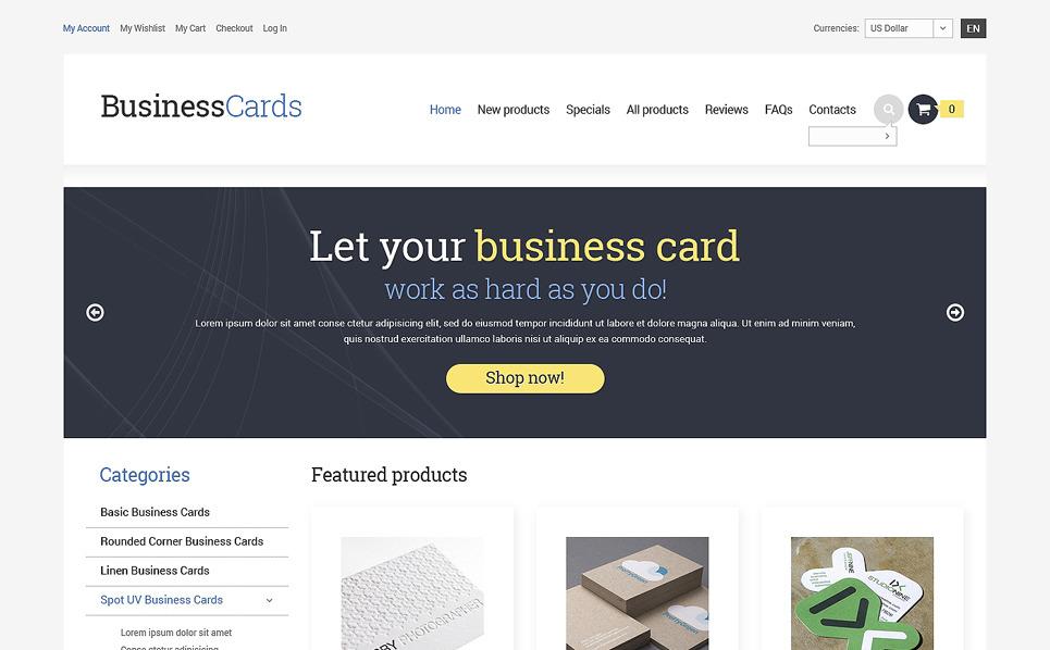 ZenCart Vorlage für Business und Dienstleistungen New Screenshots BIG