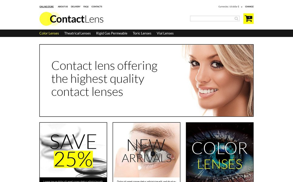 VirtueMart Template over Optometrist New Screenshots BIG