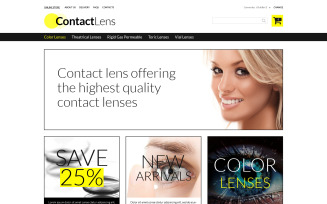 Contact Lens Store VirtueMart Template
