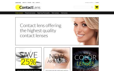 Contact Lens Store VirtueMart Template