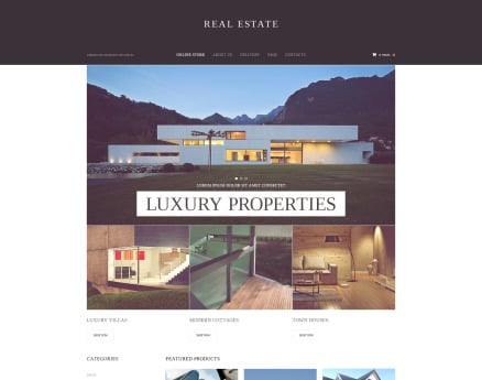 Real Estate VirtueMart Template