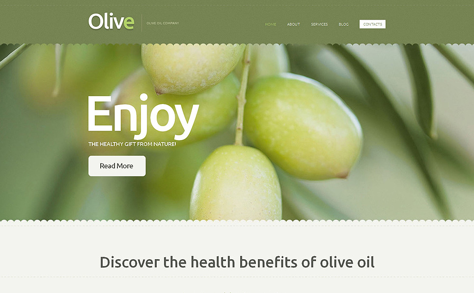 Адаптивний Шаблон сайту на тему їжа New Screenshots BIG