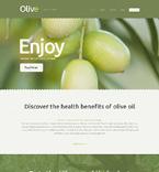 Food & Drink Website  Template 50541