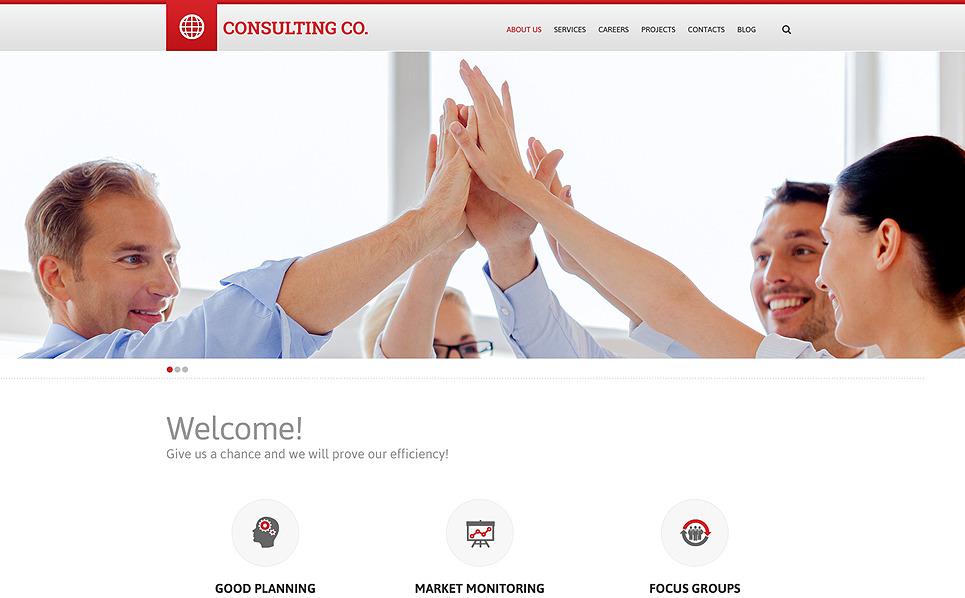 Responsywny szablon strony www #50544 na temat: usługi doradcze New Screenshots BIG