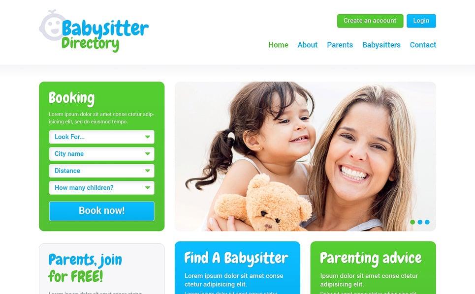 Responsive Çocuk Bakıcısı  Web Sitesi Şablonu New Screenshots BIG