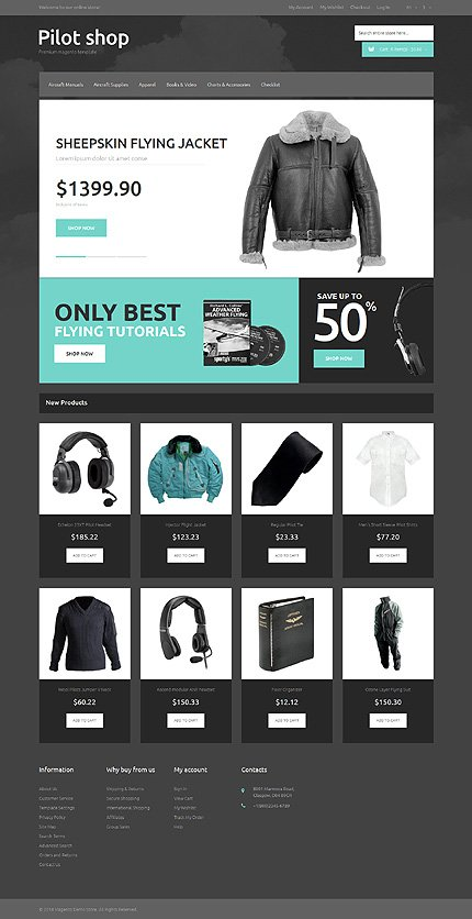 Magento Theme/Template 50550 Main Page Screenshot
