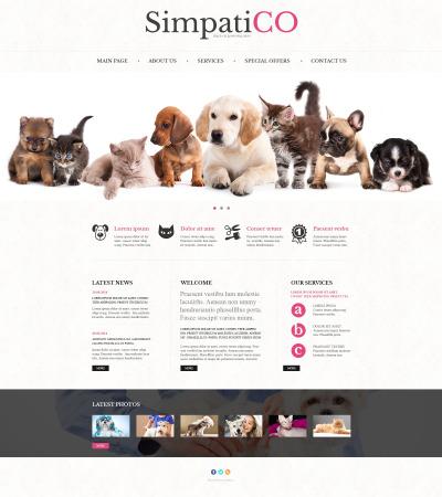 Djur & Husdjur Responsivt Hemsidemall