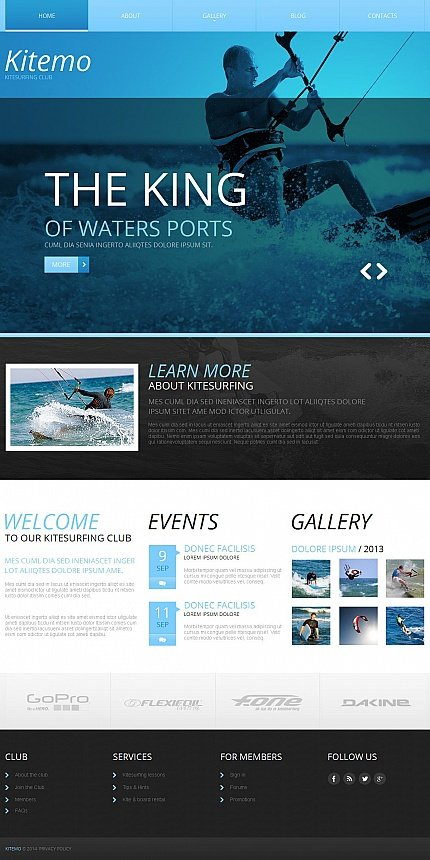 ADOBE Photoshop Template 50555 Home Page Screenshot