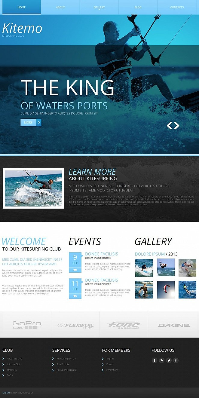 Extreme Sports Website Template with Flexible Design - image