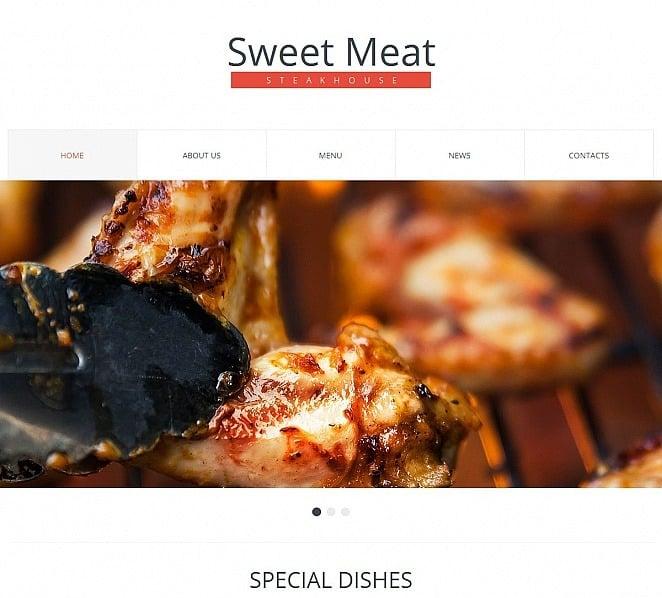 Tema Moto CMS HTML  #50556 per Un Sito di Steak House New Screenshots BIG