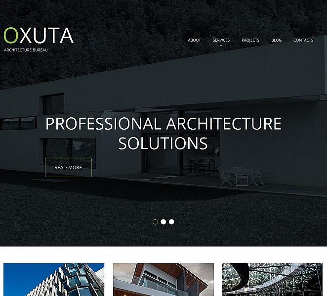 Moto CMS HTML Vorlage für Architektur New Screenshots BIG