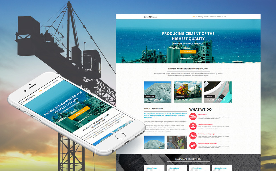 Premium Moto CMS HTML Template over Bouwbedrijf New Screenshots BIG
