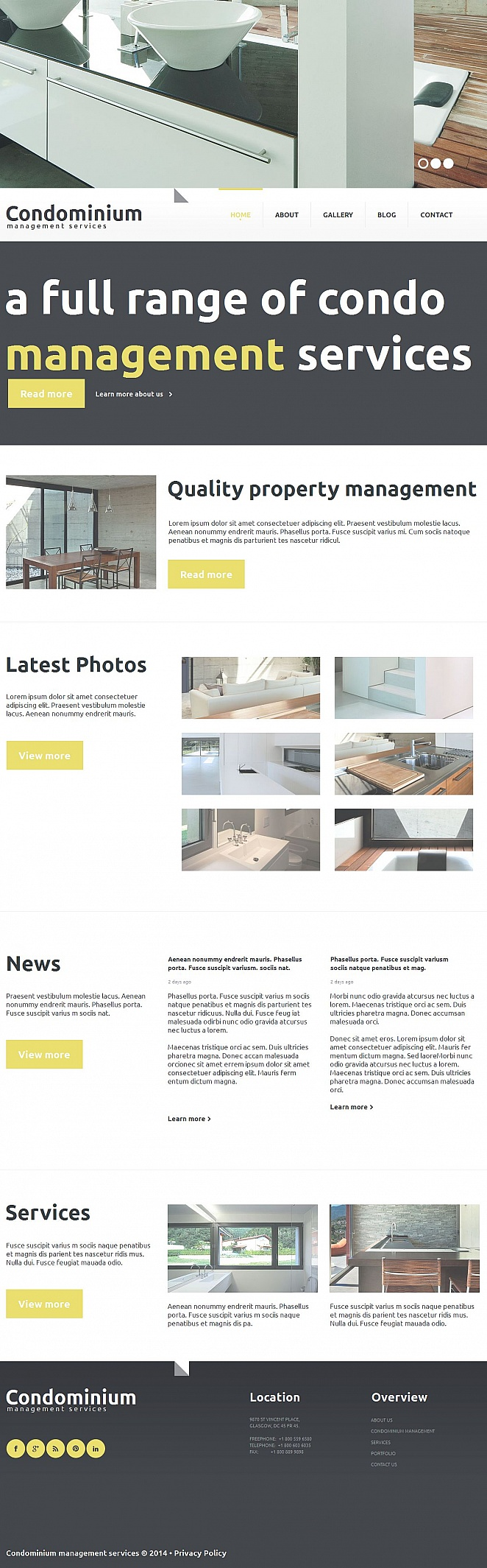 Real Estate Web Template with Header Slideshow - image