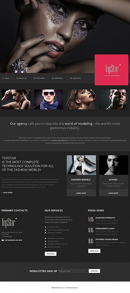 ADOBE Photoshop Template 50561 Home Page Screenshot