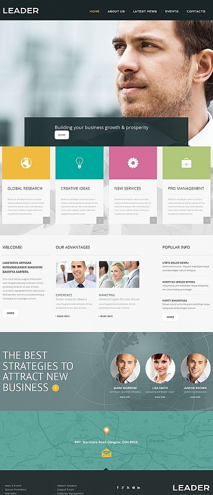 ADOBE Photoshop Template 50563 Home Page Screenshot