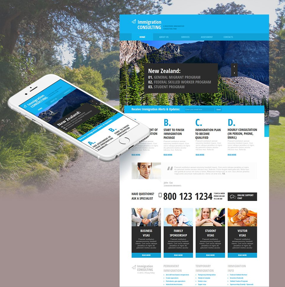 Immigration Consulting Website Template with CMS - image