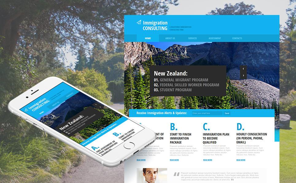 Premium Moto CMS HTML Template over Immigratie Advies  New Screenshots BIG
