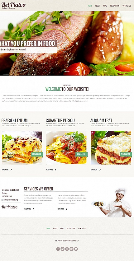 ADOBE Photoshop Template 50569 Home Page Screenshot