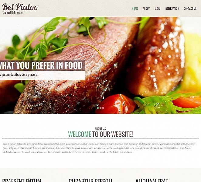 Premium Moto CMS HTML Template over Italiaans Restaurant  New Screenshots BIG