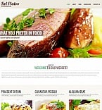 Cafe & Restaurant Moto CMS HTML  Template 50569