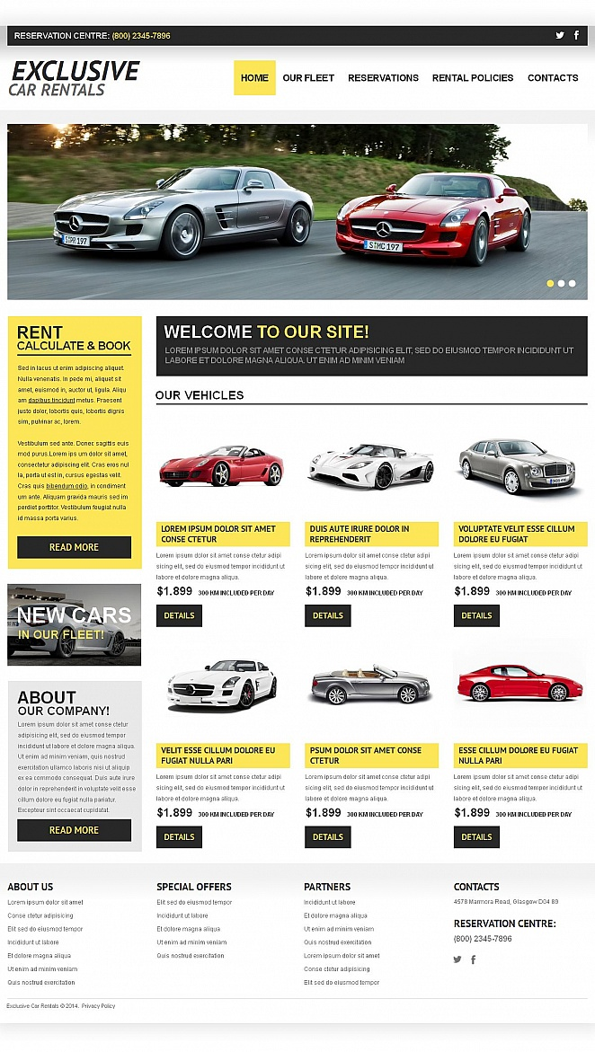 Car Rentals Website Template with a Catalog - image