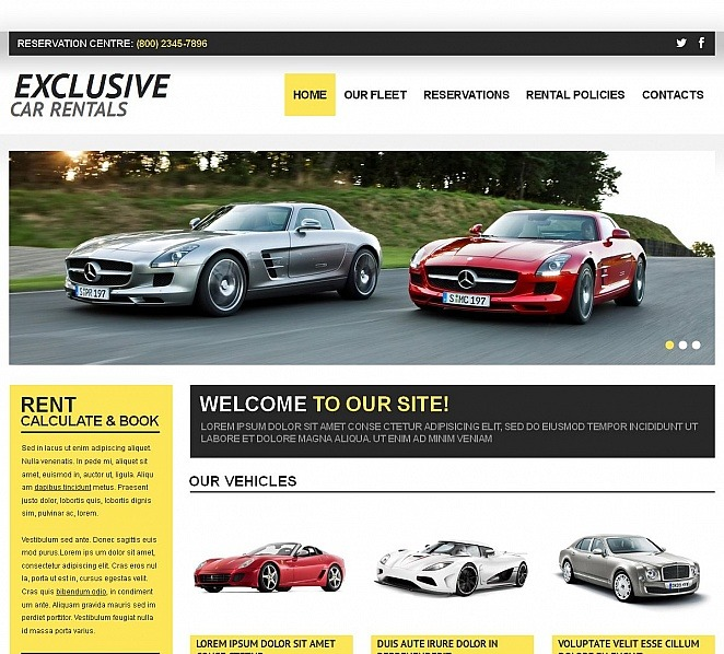 Template Moto CMS HTML para Sites de Aluguel de Carros №50571 New Screenshots BIG