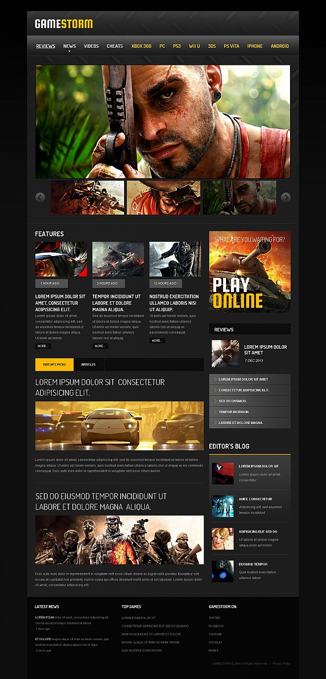 Games Website Template with Flexible Design - image