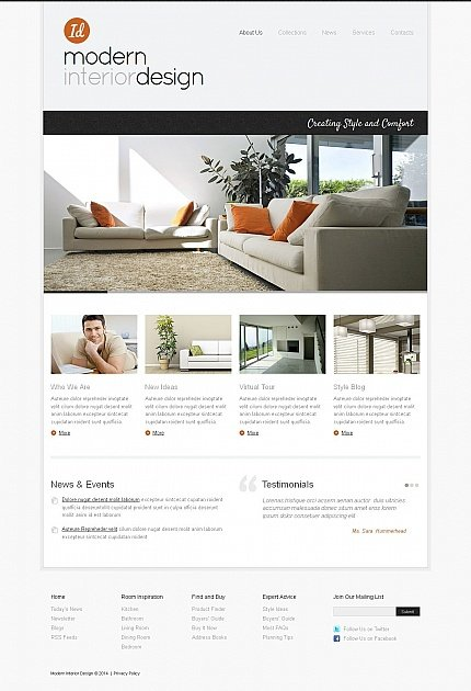 ADOBE Photoshop Template 50574 Home Page Screenshot