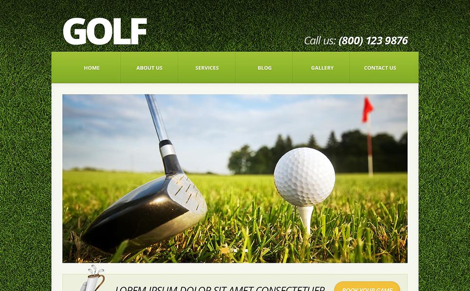 Reszponzív Golf Joomla sablon New Screenshots BIG