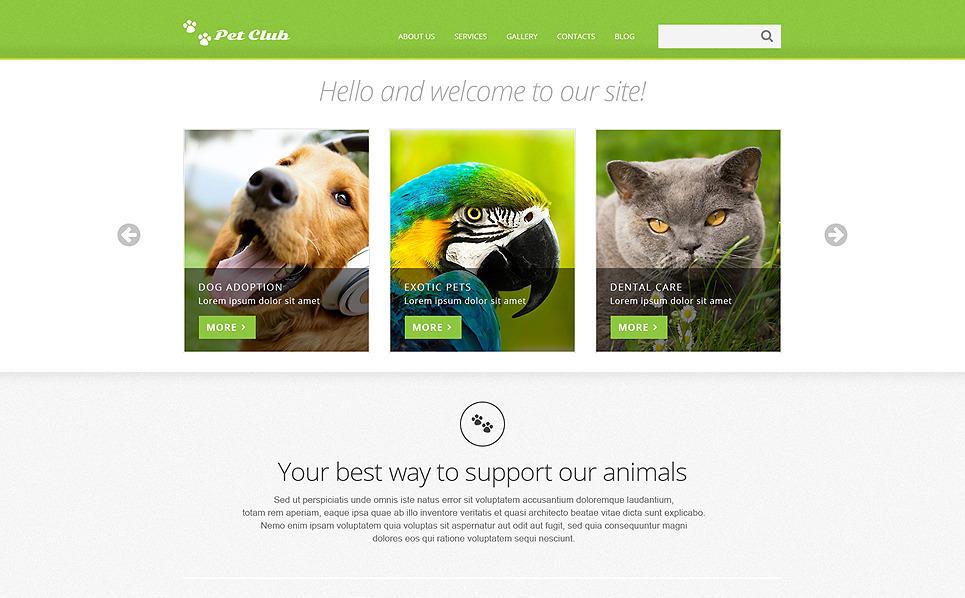 Responzivní Joomla šablona na téma Zvířata New Screenshots BIG