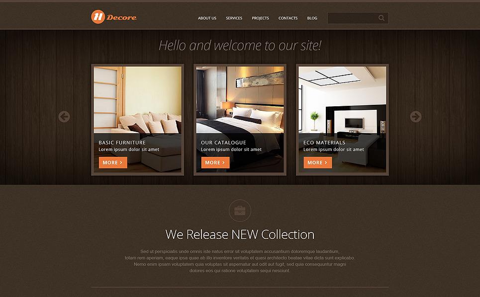 Responsive Joomla Template over Woning Decoratie New Screenshots BIG