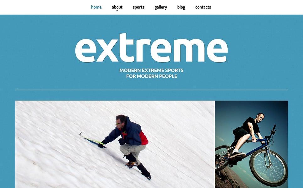 Responzivní Joomla šablona na téma Extrémní sporty New Screenshots BIG
