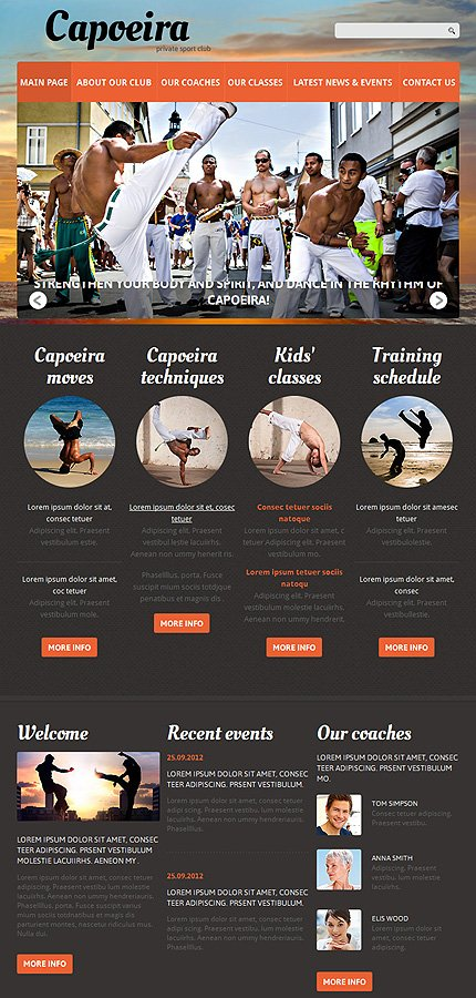 Joomla Theme/Template 50597 Main Page Screenshot