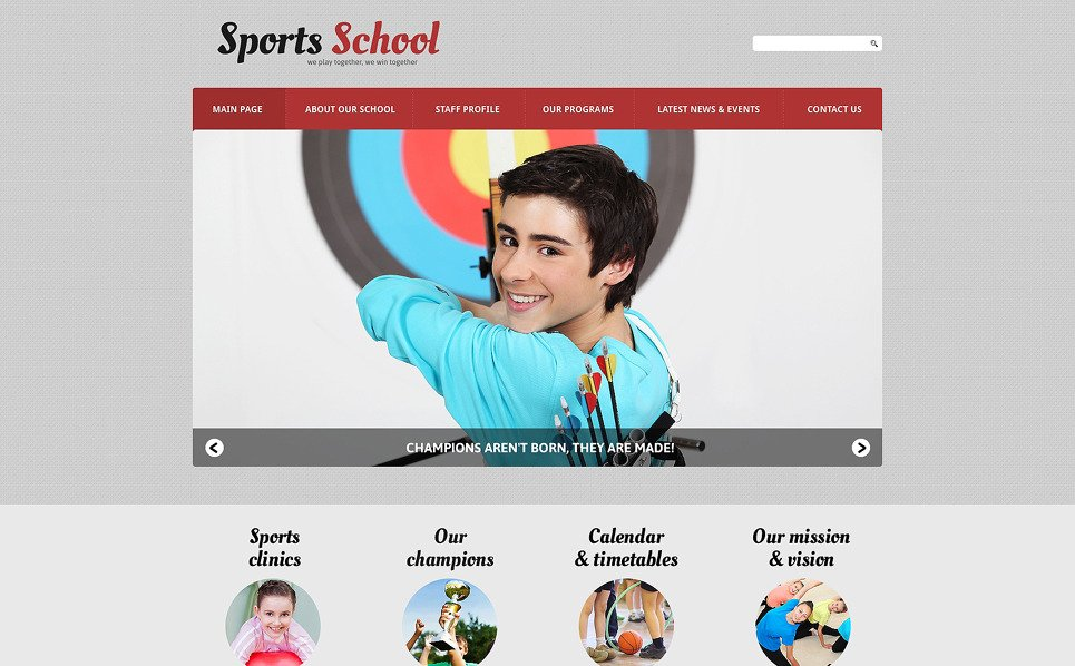 Reszponzív Sport Joomla sablon New Screenshots BIG