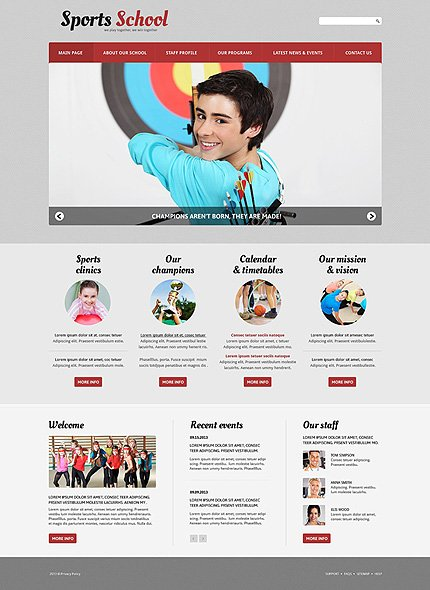 Joomla Theme/Template 50599 Main Page Screenshot