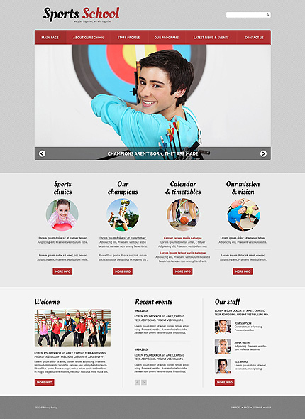 Joomla Theme/Template 50599 Main Page Screenshot